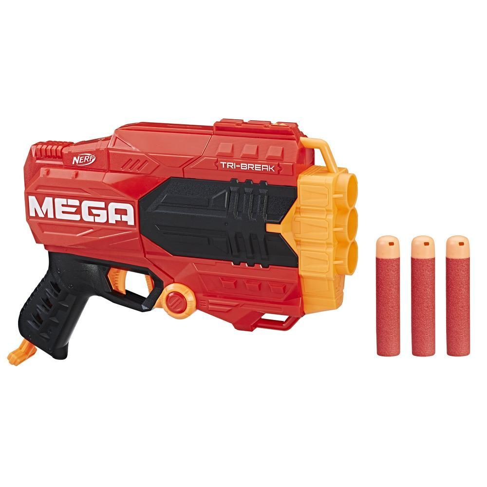 nerf mega tri break pas cher test o acheter le pistolet mega tri break. Black Bedroom Furniture Sets. Home Design Ideas
